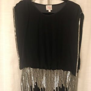 Parker Black and Sequin Dress